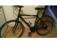 TREK 7400 hybrid mountain bike black with nexus hub light aliminium