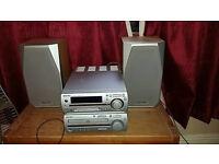 Sharp Hi Fi system w/ 2 Speakers