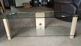 John Lewis TV stand with glass shelves - almost new