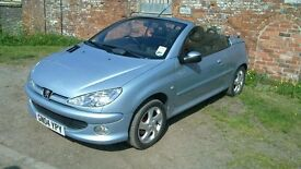 GREAT CONDITION LOW MILAGE (2004) PEUGEOT 206 CC PETROL PERFECT CAR 10MNTH MOT