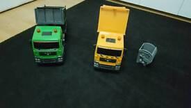 2 big trucks