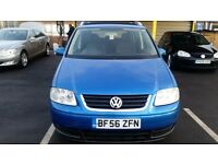 56REG VOLKSWAGEN TOURAN SE TDI BLUE NEW TIMING BELT AND SERVICE 7 SEATER