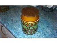 Vintage Hornsea Bronte tea Storage Jar Vintage Hornsea Bronte biscuits Storage jar