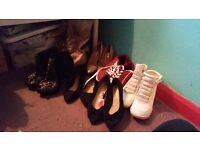 Job lot of shoes size 5's