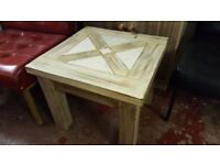 Little Rustic Tiled Coffee / Side / Lamp / Plant Table