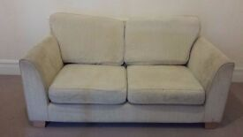 Two 2-Seater Cream Sofas in Good Condition