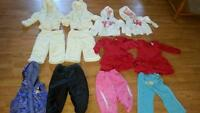 Girls Twin Clothing Christmas Dress and Warm outfits