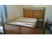 King sized metal bed