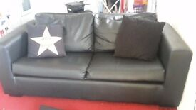3 seater black suite