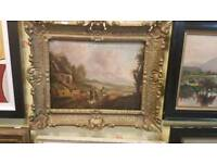 Very old antique oil painting