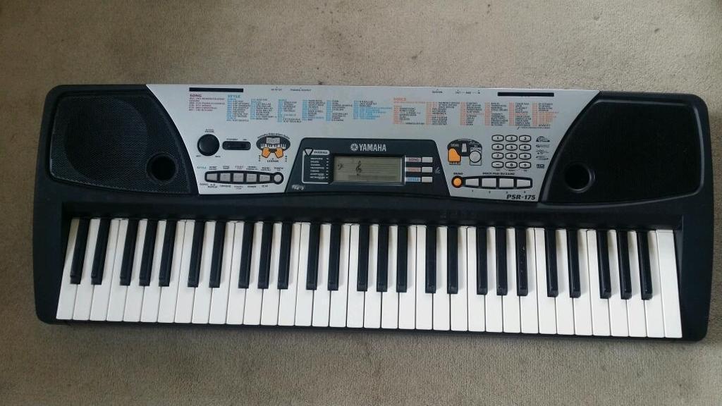 Yamaha psr 175 keyboard piano 61 keys good condition for Yamaha piano keyboard 61 key psr 180