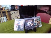Playstation 3 + Controller + 3 Games