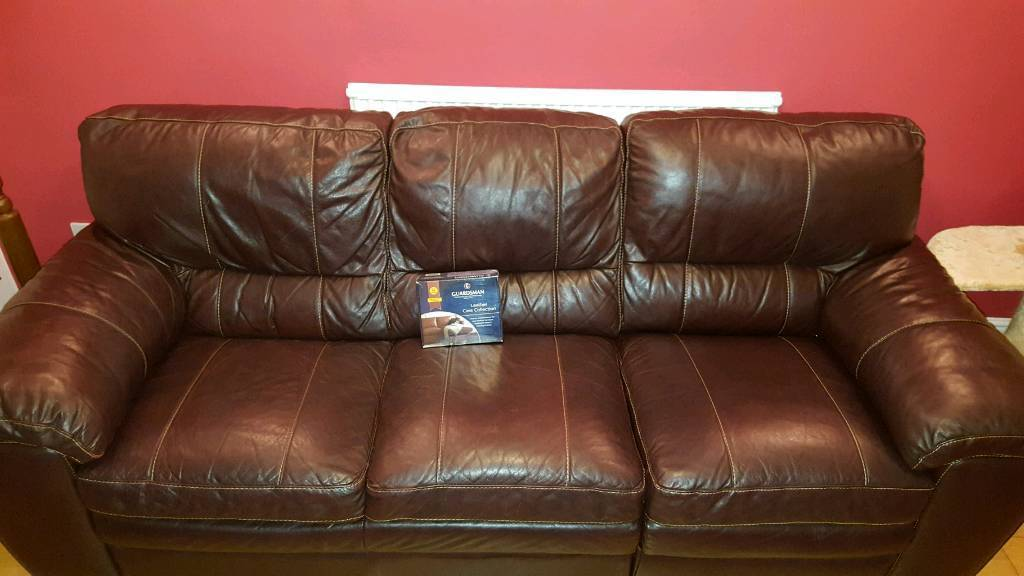 Brown Three Seater Leather Sofa Memphis By Furniture Village