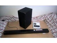 LG Soundbar and wireless subwoofer, LAS455H, (North Dorset, SP8)