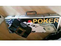 Poker set & card shuffler