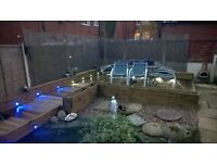 TIMBER DECKING with LIGHTING ready for CHRISTMAS / NEW YEAR
