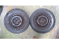 4x 2000 - 06 Vauxhall Corsa C Steel Wheels 155/80/13