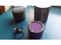 purple/pink minirig portable bluetooth speaker