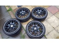 """BBS 4x Alloys 19"""" 4x 225 35 19 tyres"""