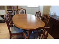 William Lawrence Extending Oval Table Solid Mahogany with 8 Chairs