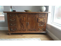 Gorgeous Fruitwood Sideboard with Cupboard