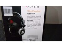 ADVENT WIRED HEADPHONES WITH MICROPHONE
