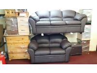 CLAUDIA 3+2 BONDED LEATHER SOFA BRAND NEW PACKED £399