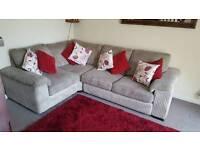 Luxury corner sofa with luxury double bed built in .