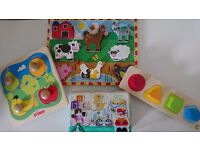 Wooden baby puzzles