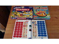 Junior Scrabble - Junior Monopoly - Electronic Guess Who £10