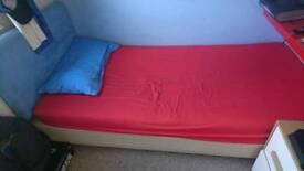 Kids single bed & mattress