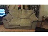 3 in 2 seater silver grey couches