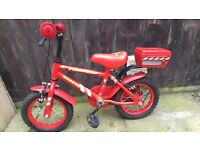 KID'S BIKE WITH OPTIONAL STABALISERS, FOR UP TO 5-6 YEARS, GOOD CONDITION.
