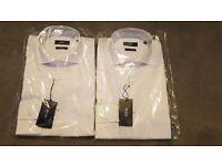 "*BRAND NEW* HUGO BOSS 'Jason' White Shirts Size 15"" Collar"