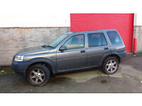 Land Rover Freelander Serengeti SE 1.8 Petrol. Cloth/ part leather interior. New tyre on Spare wheel