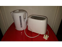 Basic White Kettle and Toaster