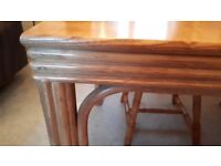 REDUCED. Wooden dining table, pretty side edges