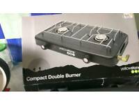 Camping double gas burner