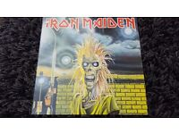 Iron Maiden Rare Fully Autographed/Signed Vinyl LP Record. 1980 1st Press A1/B1