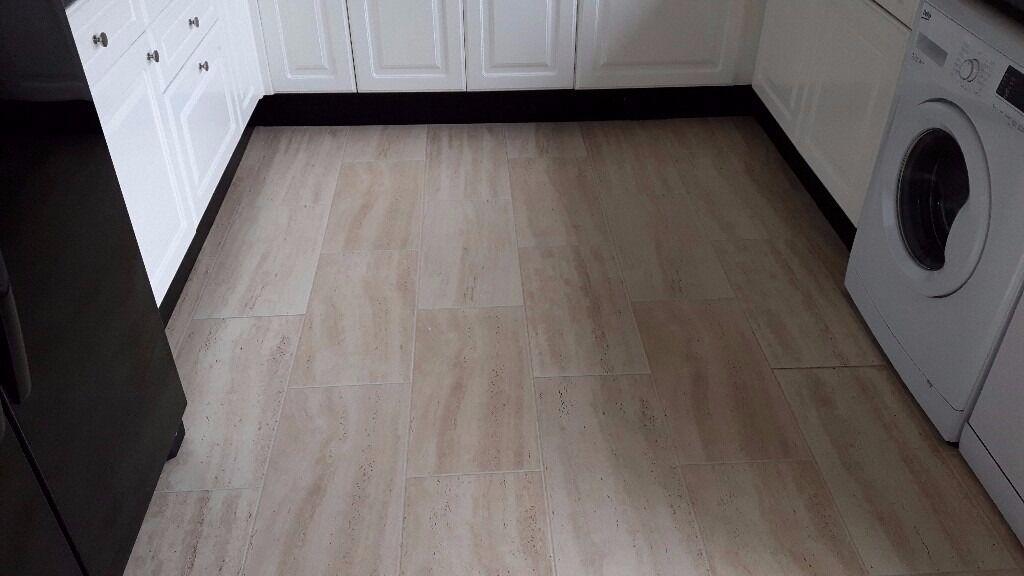 Cream Tile Effect Laminate Flooring Gallery Modern