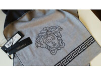 Versace Greca and Medusa wool Scarf. New with Tags.100% Authentic. RRP £240.00.