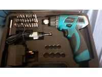 cordless torque screwdriver and drill in case