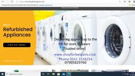 NEW & REFURBISHED WASHERS AND CONDENSER DRYERS 0161 3558254
