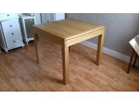 Medium Light Wooden Oak Style Veneer 4 seater extendable dining table