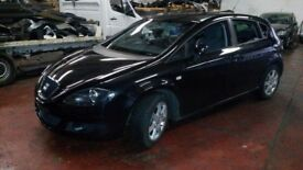 BREAKING SEAT LEON 2007 1.6 MANUAL PETROL BLACK 5DR MOST PARTS AVAILABLE 87k MILES