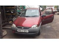 2000 Vauxhall Corsa Envoy 12v 3dr 1.0 Petrol Red BREAKING FOR SPARES