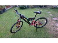 Red-black girls mountain bike for sale