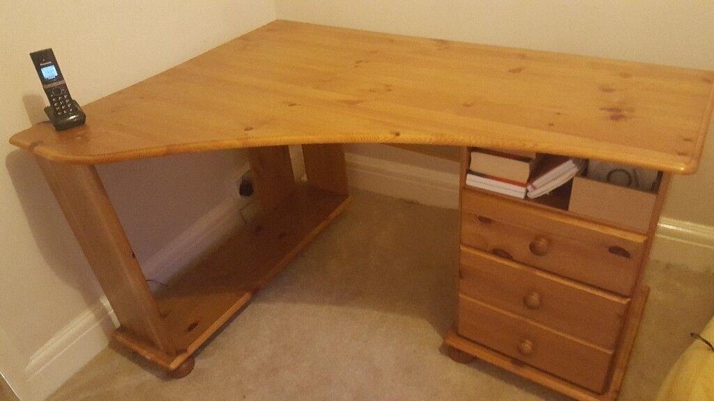 Pine Corner Desk In Newport Gumtree