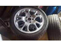 """17"""" 5x114.3 ALLOY WHEELS MINT CONDITION + 6-7 MM TREAD 225/45 TYRES"""