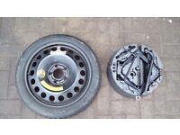 Vauxhall space saver spare wheel